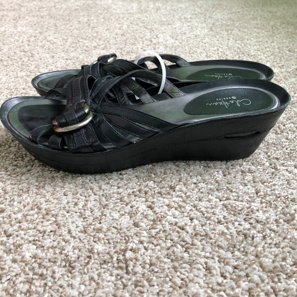 Cole Haan Shoes - 2/40 Cole Haan Black Leather Sandals Size 10